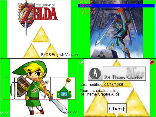 Thumbnail 1 for Zelda Link R4 Custom Theme